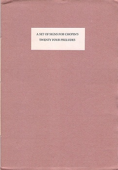 poetry book cover A Set of Signs for Chopin's Twenty Four Preludes by Desmond Graham